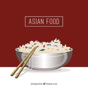 Asian rice background