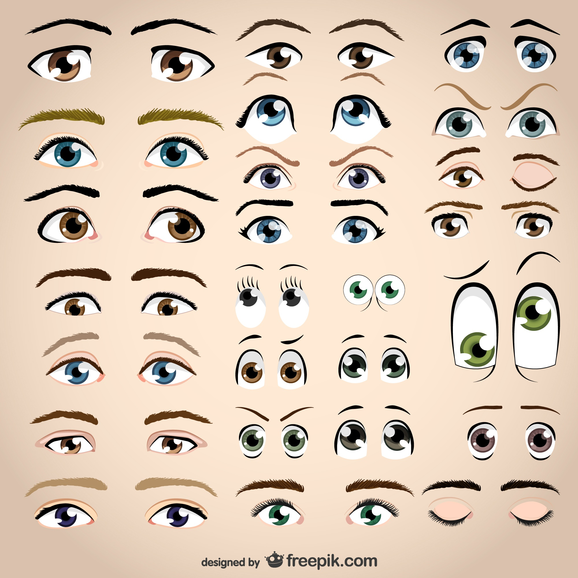 Assorted eyes collection