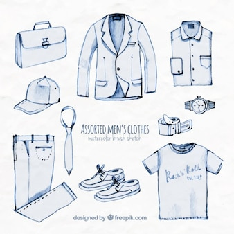 Assorted men's clothes