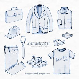 Assorted men's clothes