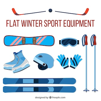 Assortment of accessories for skiing