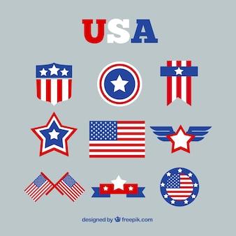素晴らしいデザインでアメリカの国旗の品揃え