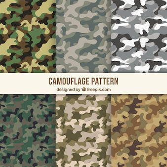 Assortment of camouflage patterns