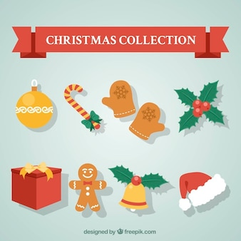 Assortment of christmas ornaments