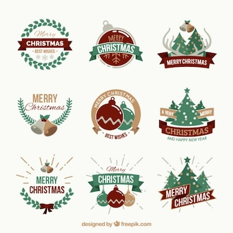Assortment of cute stickers in retro style