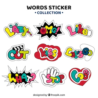 Assortment of decorative stickers