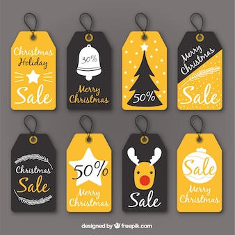 Assortment of discount vintage christmas labels
