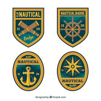 Assortment of fantastic nautical badges