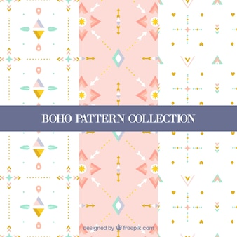 Assortment of flat boho patterns