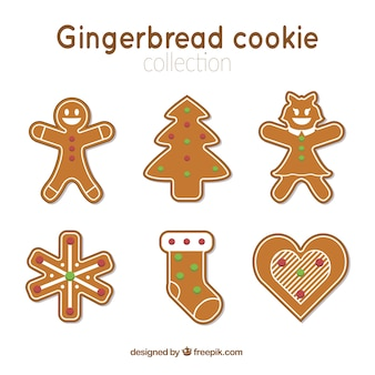Assortment of gingerbread cookies for christmas