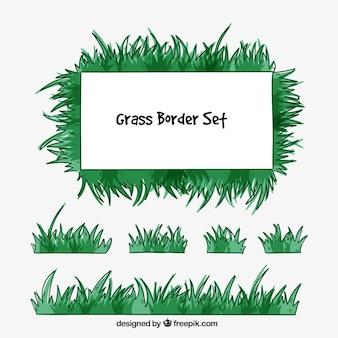 Assortment of grass borders