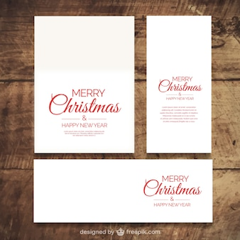 Assortment of greeting cards for christmas
