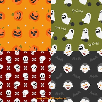 Assortment of halloween patterns