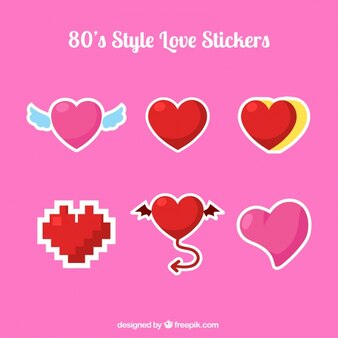 Assortment of heart stickers with great designs