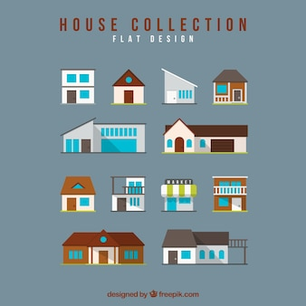 Assortment of houses with variety of designs