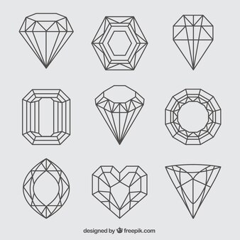 Assortment of nine lineal precious stones