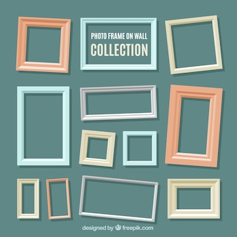 Assortment of photo frames in flat design