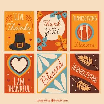 Assortment of retro thanksgiving cards