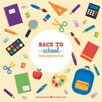 Assortment of school materials