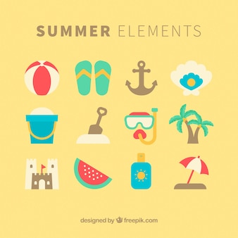 Assortment of summer elements