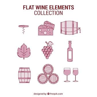 Assortment of wine items