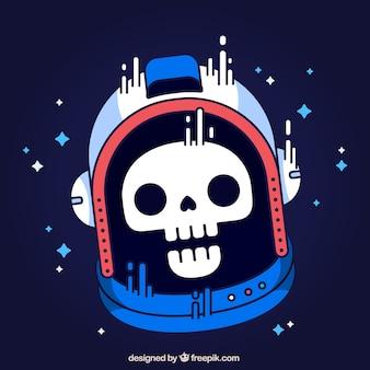 Astronaut skull background