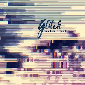 Attractive background, glitch effect