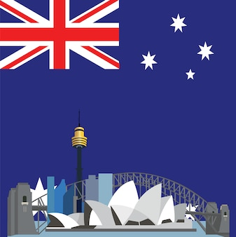 Australia background design