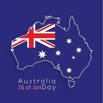 Australia day background design