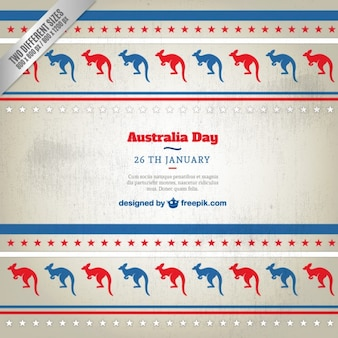 Australia day background with kangaroos