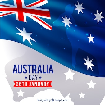 Australia day background with representative elements
