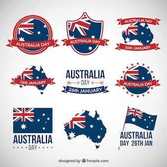 Australia day badges collection