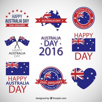 Australia day badges pack