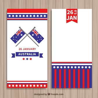 Australia day banners pack