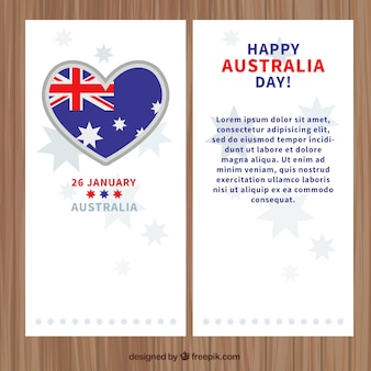 Australia day banners with a heart