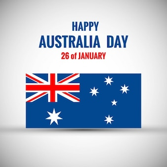 Australia day card with flag