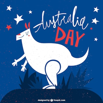 Australia day kangaroo illustration