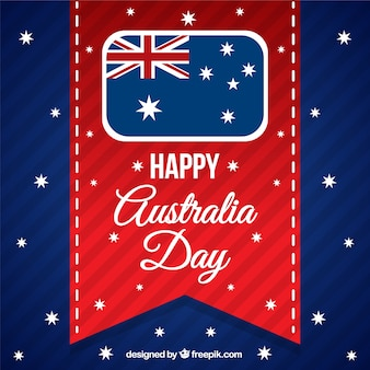 Australia day ribbon background