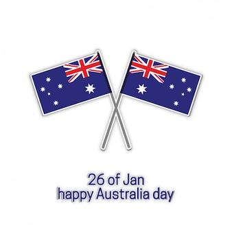 Australia's day background design