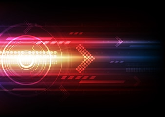 Automation technology abstract background