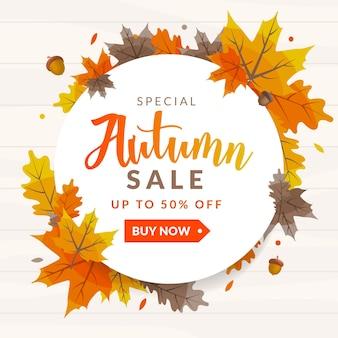 Autum Sale Discount Background