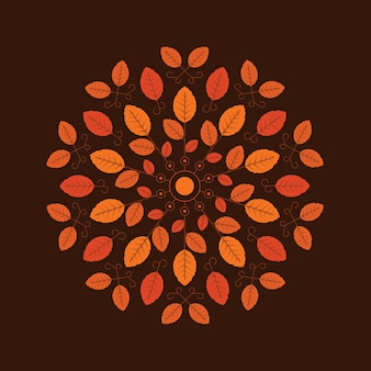 Autumn background illustration in flat style