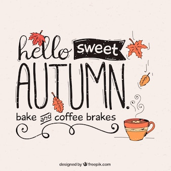 Autumn background with coffee