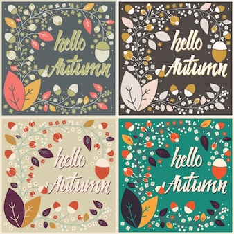 Autumn backgrounds collection