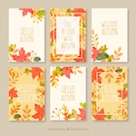 Autumn cards collection