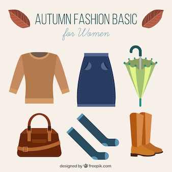 Autumn clothes and accessories