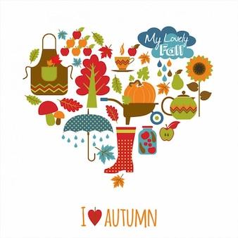 Autumn Elements Background