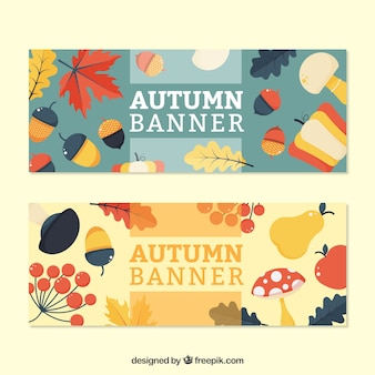 Autumn flat banners