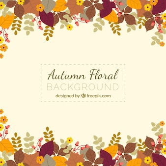 Autumn floral background
