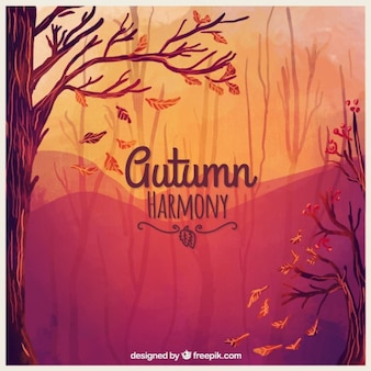 Autumn harmony background